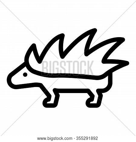 Porcupine Icon. Outline Porcupine Vector Icon For Web Design Isolated On White Background