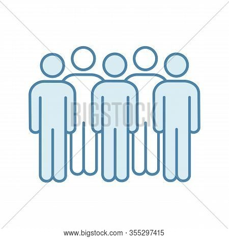 Meeting Color Icon. Coalition Policy. Protesters. Group Of People. Voters, Electorate. Social And Po