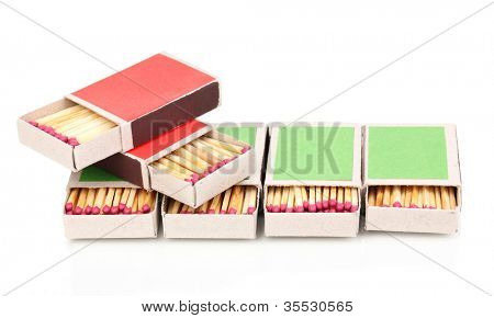 matches isolated on white poster