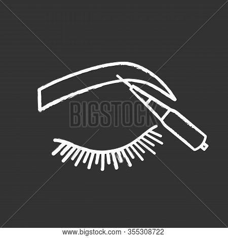 Microblading Eyebrows Chalk Icon. Microblading Pen Tool. Eyebrows Tattoo Pen. Permanent Makeup. Brow