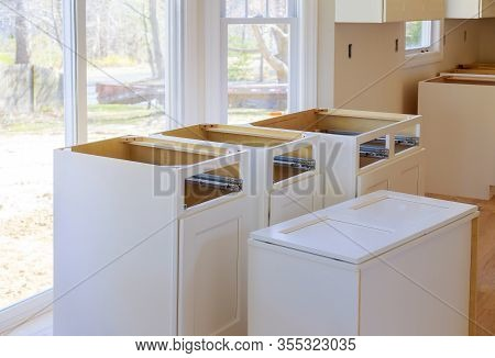 Installing New Cabinet In A Home Improvement Kitchen View Installed In A Remodeling