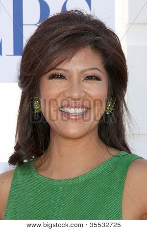 LOS ANGELES - JUL 29:  Julie Chen arrives at the CBS, CW, and Showtime 2012 Summer TCA party at Beverly Hilton Hotel Adjacent Parking Lot on July 29, 2012 in Beverly Hills, CA
