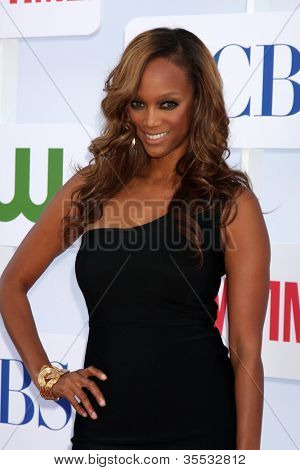 LOS ANGELES - JUL 29:  Tyra Banks arrives at the CBS, CW, and Showtime 2012 Summer TCA party at Beverly Hilton Hotel Adjacent Parking Lot on July 29, 2012 in Beverly Hills, CA