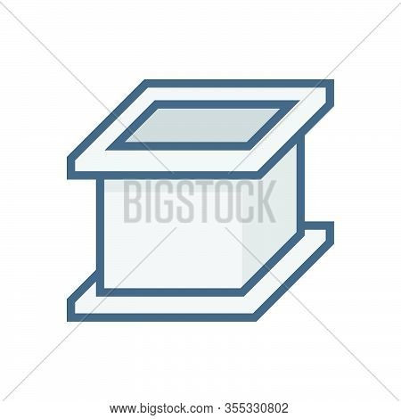 Concrete Mould For Material Testing Work Vector Icon Design.