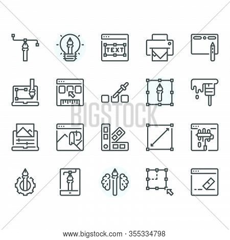 Graphic Design Icon And Symbol Set.vector And Illustration