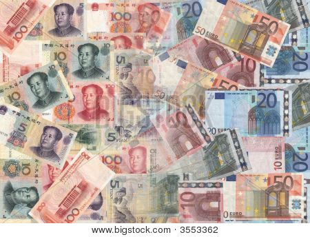 Chinese And Euros Currency