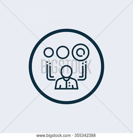 Browser Icon Isolated On White Background From Tech Support Collection. Browser Icon Trendy And Mode