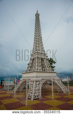 Kabardian, Krasnodar Territory, Russia - June 18, 2015: Design, A Copy Of The Eiffel Tower With Moun