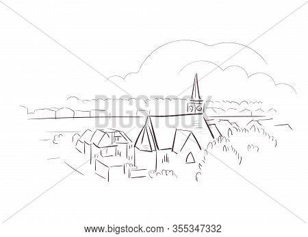 Hasselt Belgium Europe Vector Sketch City Illustration Line Art