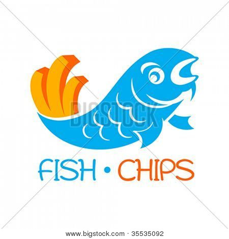 Famous british fast-food - fish and chips