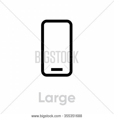 Tech Specs Large Phone Icon. Editable Line Vector.