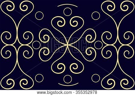 East Asian Style Abstraction. Golden Waves And Hearts. Wheel Of Fate. The Movement Of Time. Backgrou