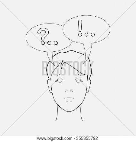 Inner Dialog Icon Line Element. Illustration Of Inner Dialog Icon Line Isolated On Clean Background