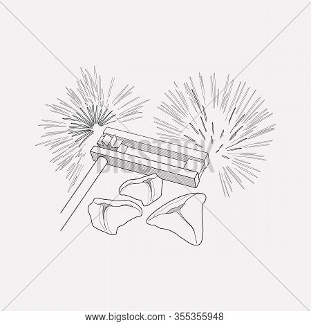 Purim Icon Line Element. Vector Illustration Of Purim Icon Line Isolated On Clean Background For You
