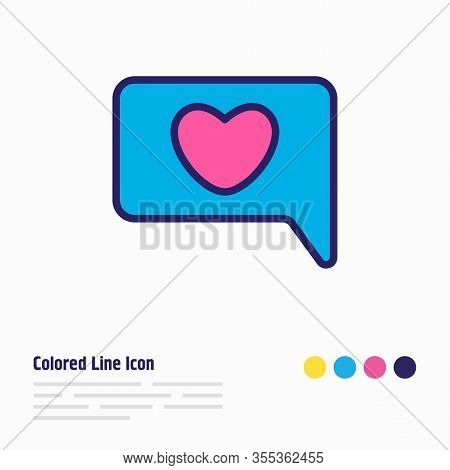 Vector Illustration Of Chat Icon Colored Line. Beautiful Amour Element Also Can Be Used As Conversat