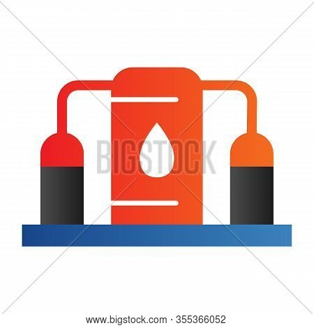 Fuel Storage Flat Icon. Underground Reservoir System, Flammable Gas Tanks Station. Oil Industry Vect