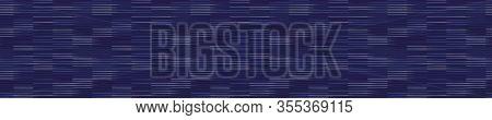 Spliced Vector Broken Stripe Border Texture. Variegated Mottled Vertical Line Banner Background. Sea