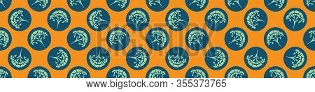 Fresh Spring Carnation Polka Dot Border Background. Bright Stylized Floral Summer Motif Medallion Se