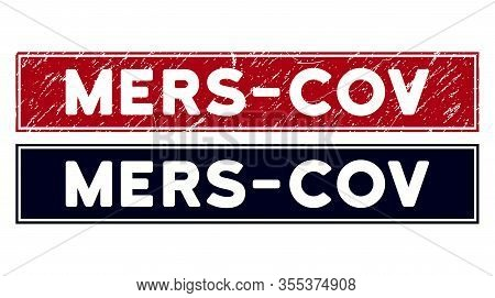 Mers-cov Stamp Seal. Red Vector Rectangle Grunge Seal Stamp With Mers-cov Message, With Frame. Usefu