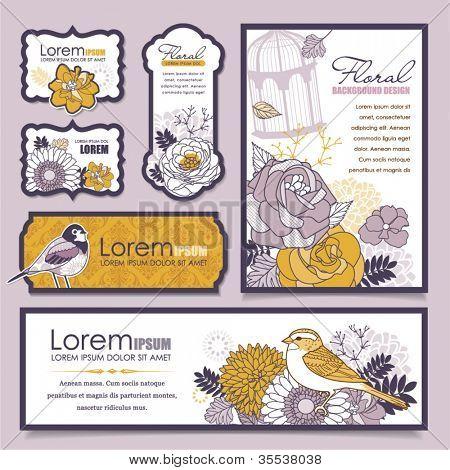 set of card design