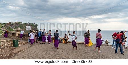 Tourists And Locals Enjoying The Uluwatu Coast. Uluwatu Bali / Indonesia - 11/07/2018