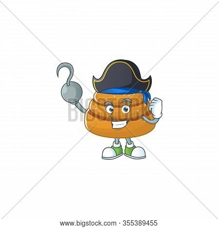 One Hand Pirate Cartoon Design Style Of Kanelbulle Wearing A Hat