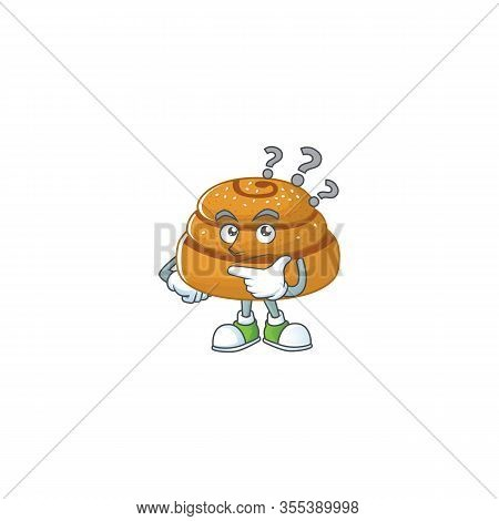Cute Kanelbulle Cartoon Character Using A Microphone