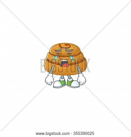 A Crying Face Of Kanelbulle Cartoon Character Design
