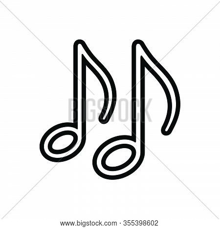 Black Line Icon For Entertainment Music-note Music Note Sound Classical Clef Melody Tune Notation Sy