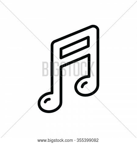 Black Line Icon For Music-note Music Note Sound Classical Clef Melody Tune Notation Symphony Musical