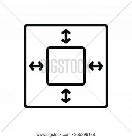 Black Line Icon For Margin Ledge Rand Marge Boundary Limitation Extent