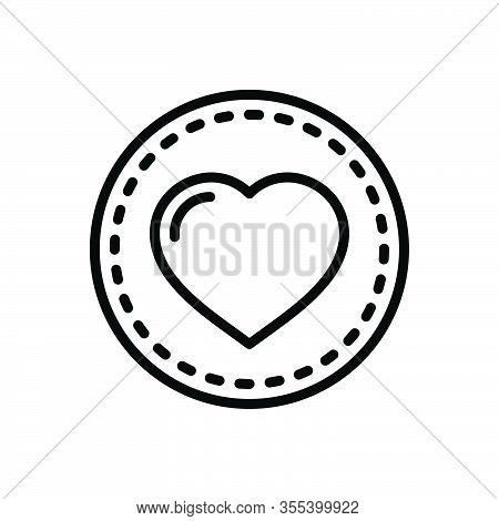 Black Line Icon For Heart Feeling Love Affection Impulse Cardiology Romance