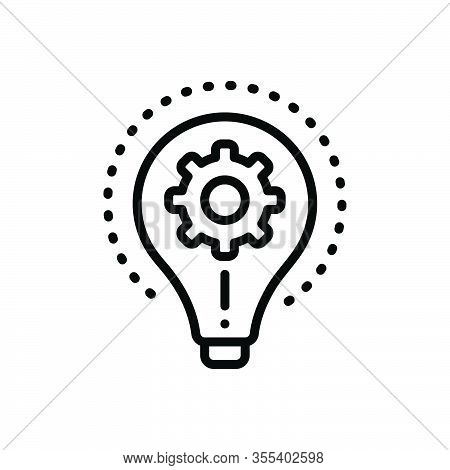 Black Line Icon For Realize Comprehend Understand Creative Mistake Project Imagination Inspiration