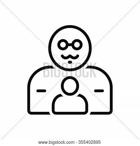 Black Line Icon For Father Pop Origin Progenitor Ancestor Dad Daddy Pater Dada Gentleman Parental Pe