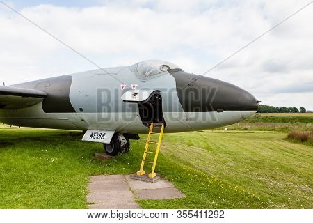 Carlisle, England - May 30:  A Close Up Picture Of Canberra T4 We188 At Solway Aviation Museum In Cu