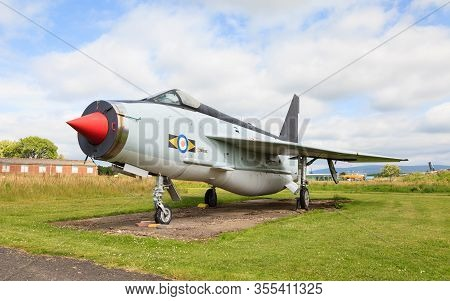 Carlisle, England - May 30:  English Electric Lightning F53 Zf583 Is Seen At Solway Aviation Museum
