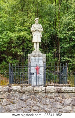 Ballachulish, Scotland - June 23:  A Memorial In Memory Of The Men Of Ballachulish And Glencoe Who F