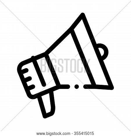 Loudspeaker Tool Icon Vector. Outline Loudspeaker Tool Sign. Isolated Contour Symbol Illustration
