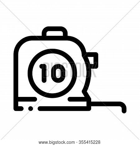 Reel Meter Tool Icon Vector. Outline Reel Meter Tool Sign. Isolated Contour Symbol Illustration