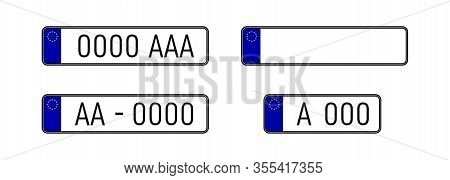 European Countries Car License Plate Registration Numbers. Car License Plate. Eu Countries Car Numbe