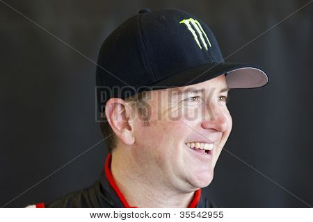 INDIANPOLIS, IN - JUL 28, 2012:  Kurt Busch (51) and prepare their car during a practice session for the Curtiss Shaver 400 at the Indianapolis Motor Speedway in Indianapolis, IN on Jul 28, 2012.