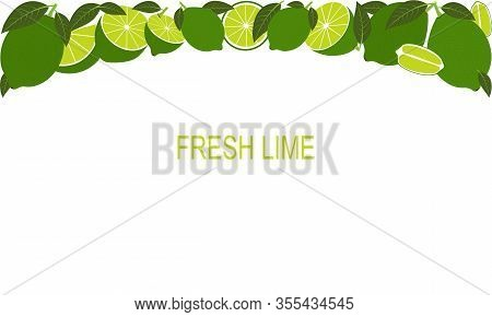 Vector Fresh Lime Template Suitable For Banners, Magazines, Websites, Restaurants And Menus. Healthy