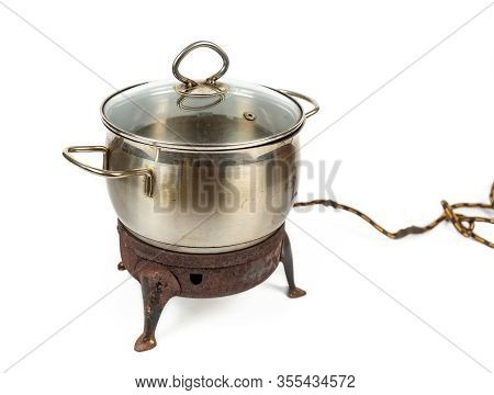 Old Rusty Electric Stove