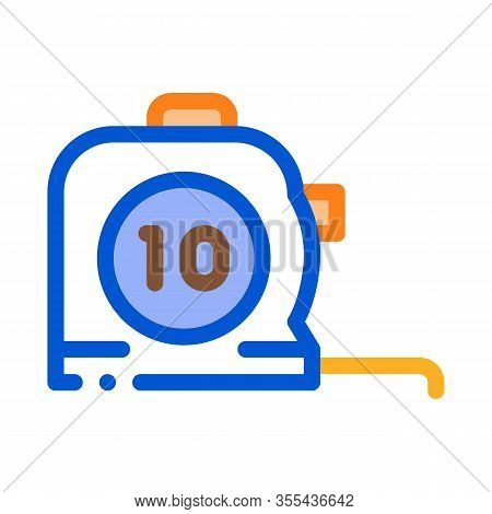 Reel Meter Tool Icon Vector. Outline Reel Meter Tool Sign. Color Isolated Contour Symbol Illustratio