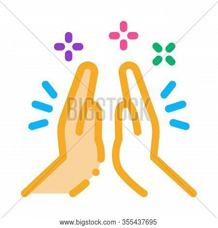 Hand Clapping Icon Vector. Outline Hand Clapping Sign. Isolated Contour Symbol Illustration