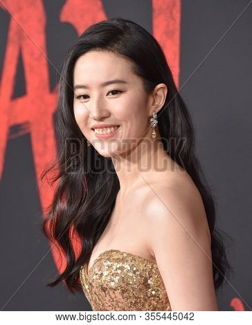 LOS ANGELES - MAR 09:  Yifei Liu arrives for 'Mulan' World Premiere on March 09, 2020 in Hollywood, CA