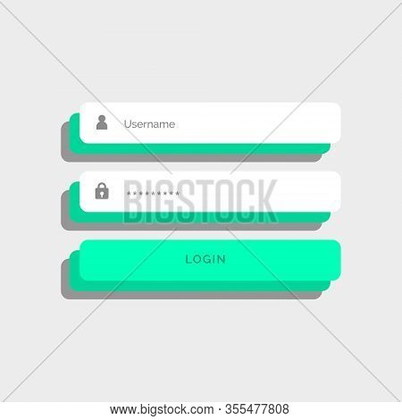 3D Style Login User Interface Design