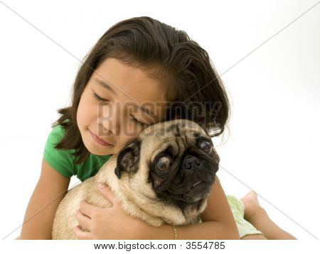 Girl And Her Pet