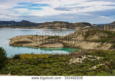 The Pedrera Water Reservoir Near Santa Pola, Alicante. Spain. River Segura.
