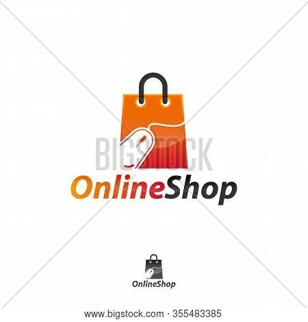 Online Shopping Icon Isolated On White Background From Advertising Collection. Online Shopping Icon